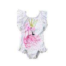 Модная детская одежда для купания девочек; летний слитный купальник