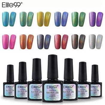 Elite99 Holographische Glitter Platin UV Nagel Gel Polnisch Regenbogen Schimmer UV LED Nagel Gel Polnisch langlebige Glück Hybrid lack