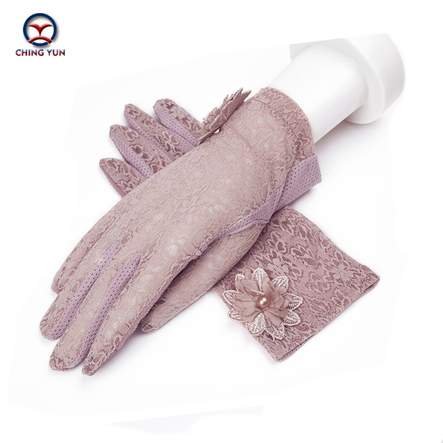 2020 New Women's Sunscreen gloves Driving Slip-resistant Ice short sexy gloves Breathable and antiskid touch screen gloves women
