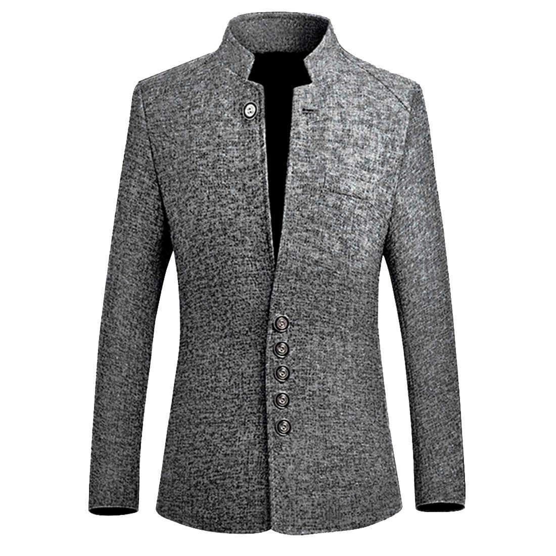 Heflashorブレザー男性ホット販売秋中国風のカジュアルなスーツ大サイズ男性春のファッションスーツ高品質M-5XL