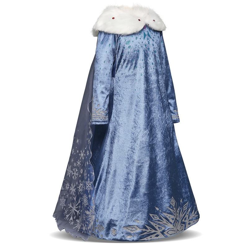 New Elsa dress long sleeve girl costume snow queen party dress Anna girls clothes vestidos infantis Congelados disfraz princesa 4