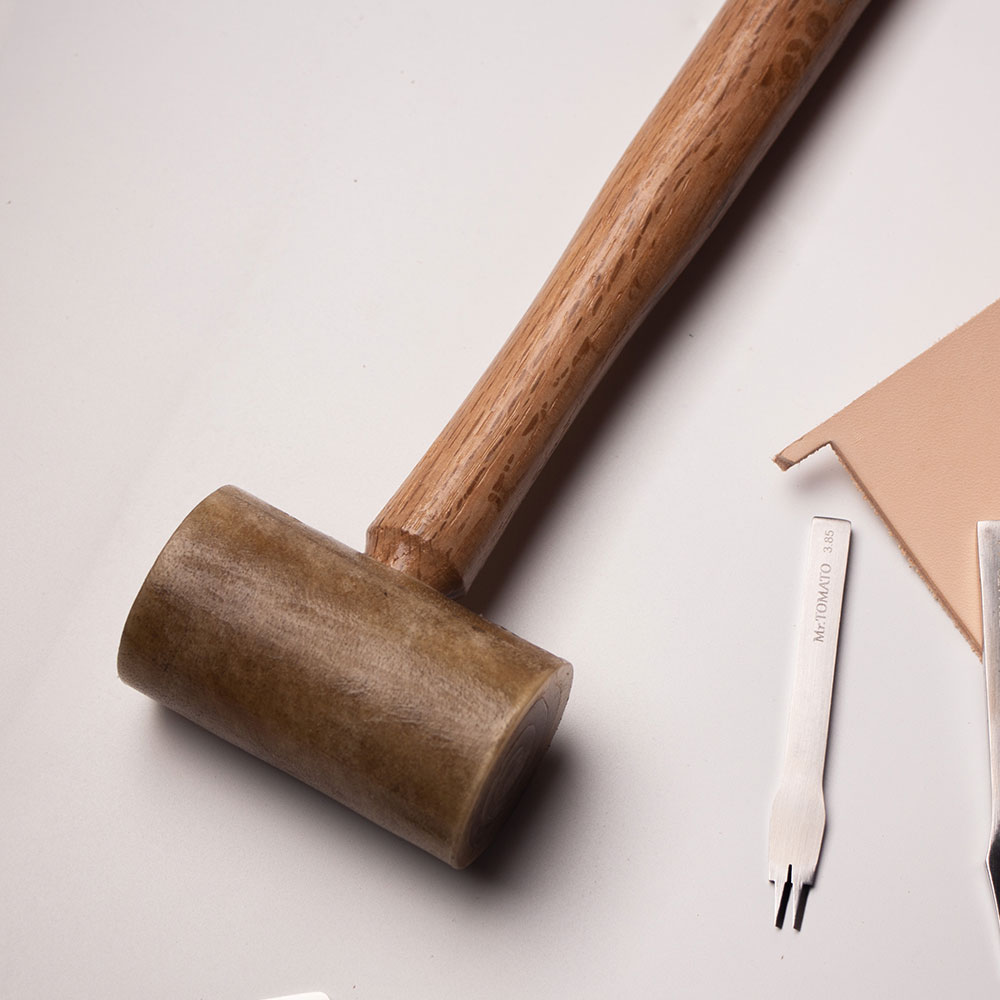 1pc Leather Craft Carving Embossing Design Making DIY Hammer Mallet Tool NEW