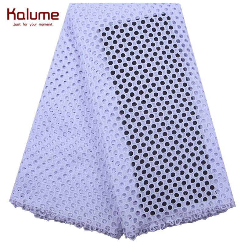 Африканская кружевная ткань Kalume, высокое качество, гипюр, шнур, кружевная ткань, швы, нигерийский водорастворимый шнур, кружевная ткань для ...