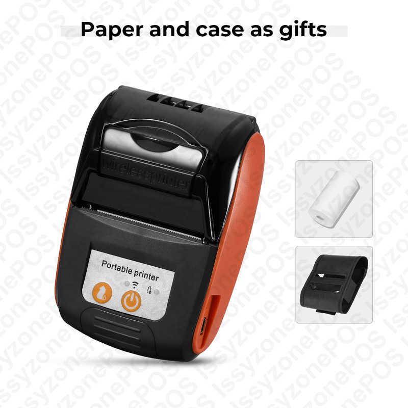 ISSYZONEPOS Android impresora Bluetooth inalámbrico Mini código de barras 58mm térmica POS impresora teléfono iOS software SDK gratis