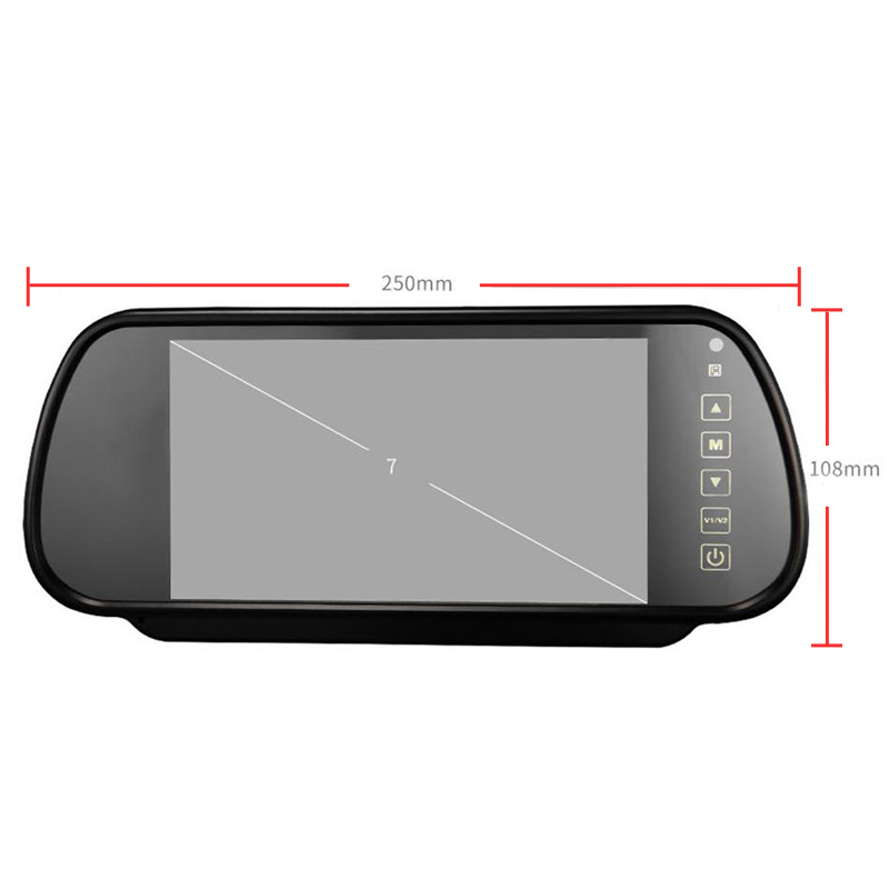 7 hüvelykes TFT LCD szélesképernyős érintőgomb támogatása DVD - Autóalkatrész - Fénykép 6