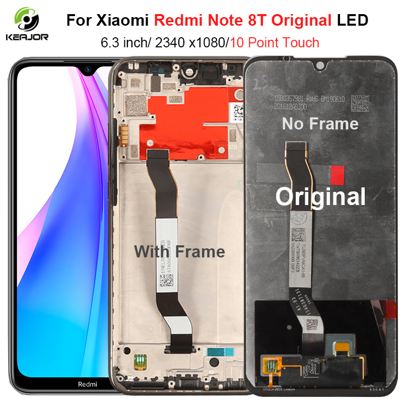 Original LCD For <font><b>Xiaomi</b></font> <font><b>Redmi</b></font> Note 8T LCD <font><b>Display</b></font> Touch Screen Digitizer With Frame For <font><b>Redmi</b></font> Note 8T <font><b>8</b></font> T LCD Screen Replacement image