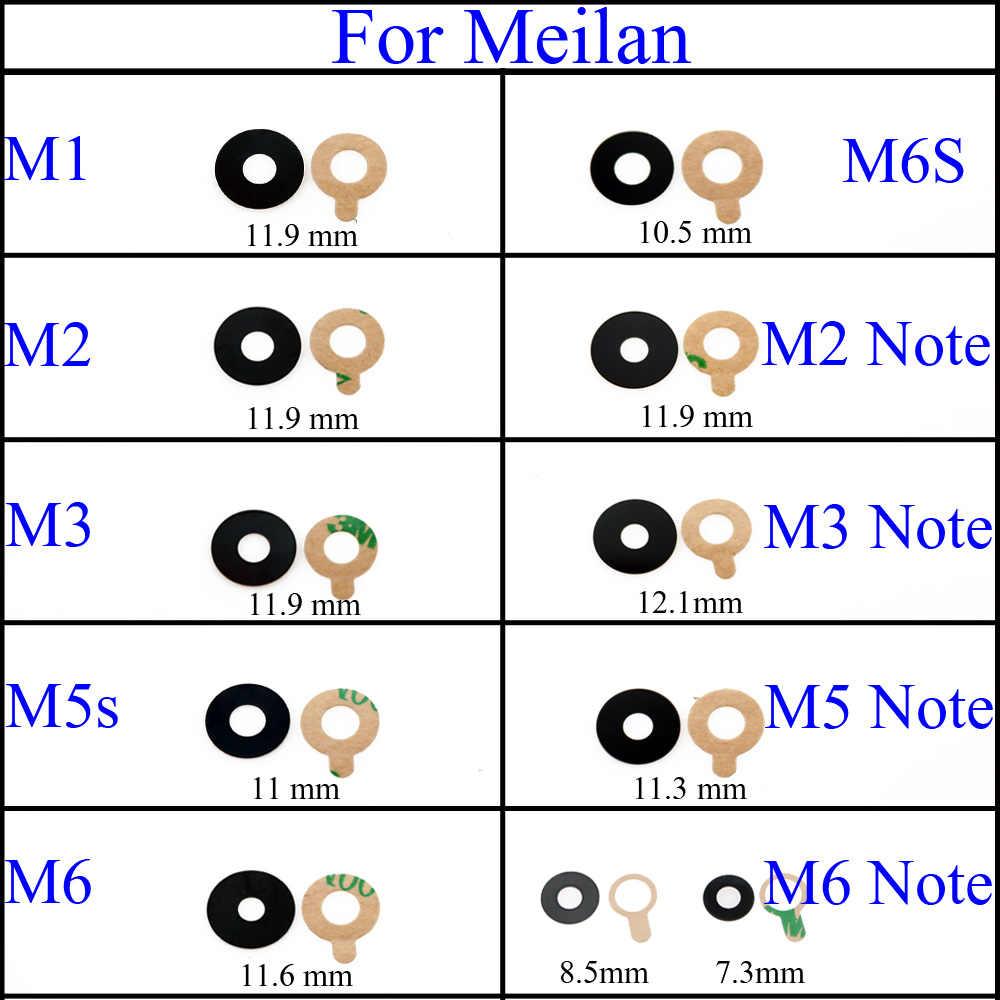 YuXi obudowa z tylnej kamery szklana osłona obiektywu z naklejki samoprzylepnej wymiana dla Meizu Meilan M1 M2 m3 M5 M6 m5s M6S uwaga 2 3 5 6