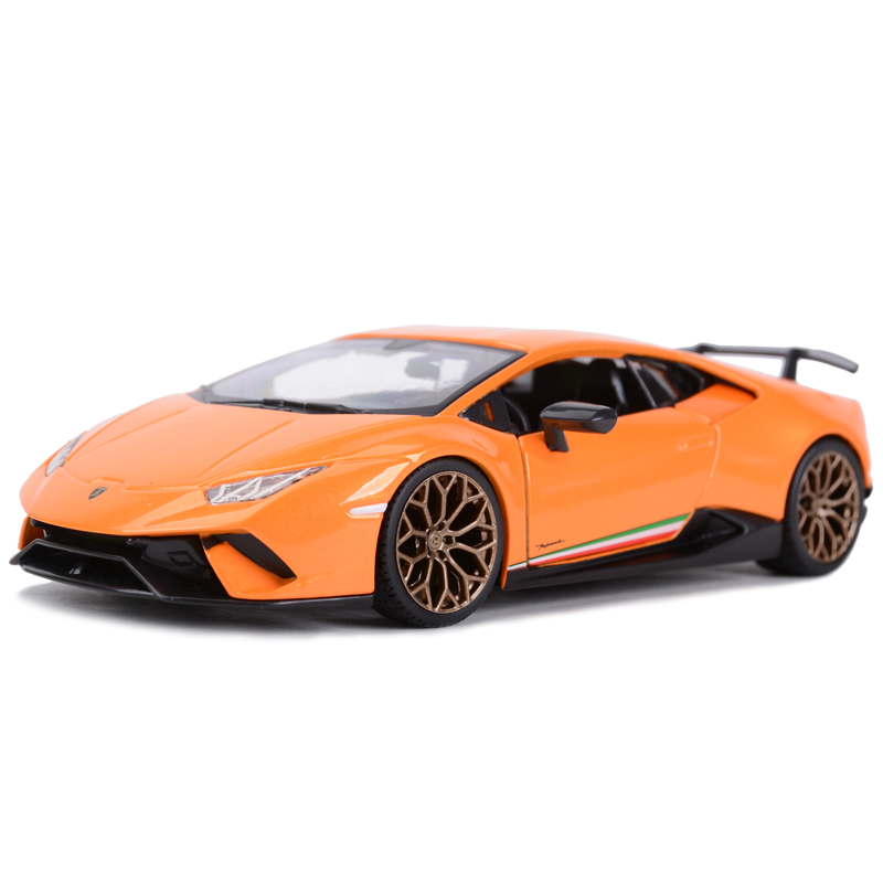 Bburago 1:24 Hurricane Performmante Orange Sports Car Static Simulation Diecast Alloy Model Car
