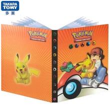 Carpeta con mapa de Pokemon para juegos, porta álbum de cartas, dibujos animados, Anime, colección de libros, juguete para regalo, 240 Uds.