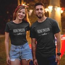 Одинаковые футболки для пар; Летние хлопковые мужа и жены; подруги;
