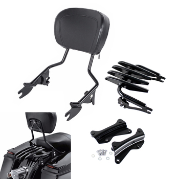 Motorcycle Sissy Bar Backrest Stealth Luggage Rack For Harley Touring 2014-2019 Road King Road Street Glide FLHR FLHX FLTRX chrome motorcycle luggage rack for harley touring flht flhr flhx flt 1997 2015 electra glide road king street glide