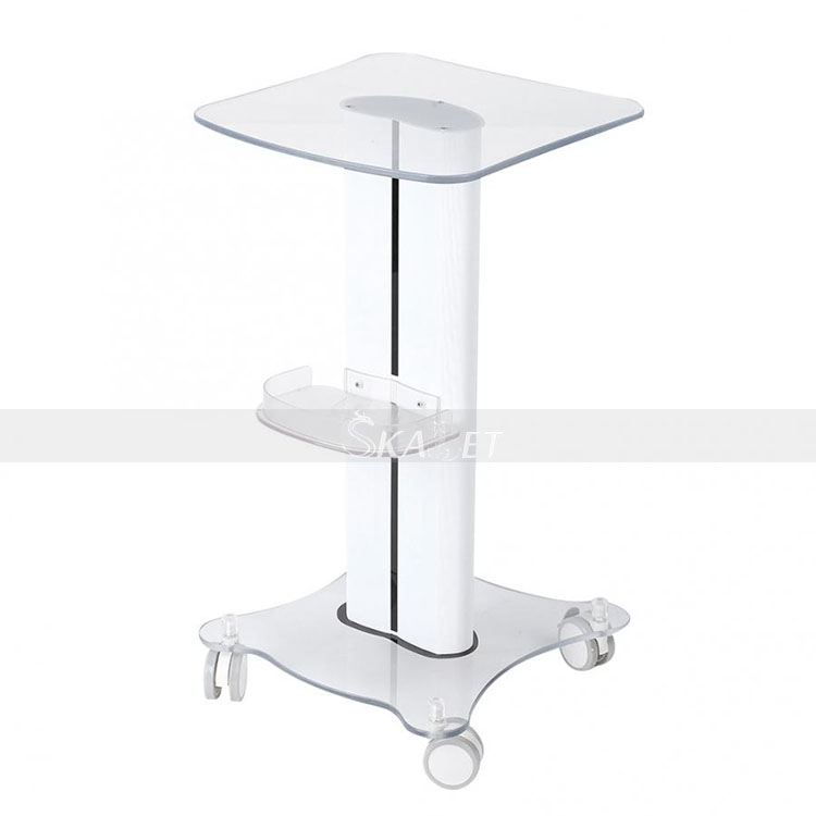 Hottest Styling Pedestal Assembled Aluminum Alloy Wheel Trolley For Facial Beauty Machine Salon Use