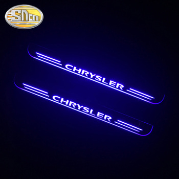 LED Door Sill Scuff Plate Pedal For Chrysler 300 300C SRT8 SRT-8 Ypsilo Dynamic Welcome Door Lights Car Sticker Trim Car Styling for car sticker hyundai santafe 2019 accessories stlyling staninless steel door sill protector welcome pedal scuff plate trim