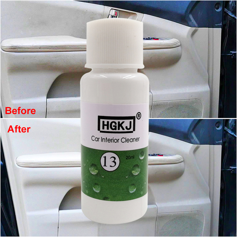 HGKJ 30ml Plastic Maintenance Cleaner Car Interior Leather Seats Refurbisher Agent Leather Car Leather Care
