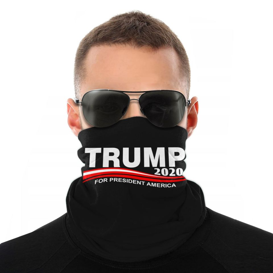 New Trump Unisex Face Mask Neck Gaiter Black One Size Free Shipping