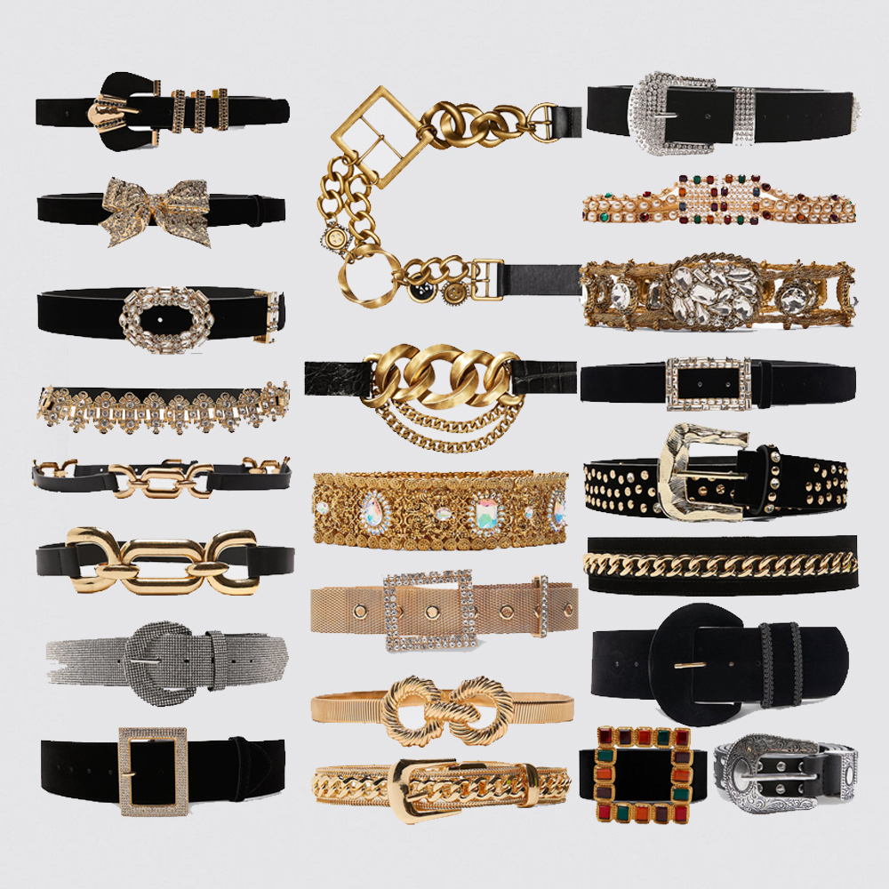 Dvacaman Brand ZA 2019 Luxury Crystal Pearl Maxi Buckle Belts for Women Charm Limited Edition Link Leather Belts Waist Jewelry