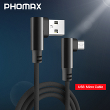 PHOMAX  2M Micro USB Cable fast Charging Data for Samsung xiaomi mi5 mi6 huawei LG Meizu Android Mobile Phone Cables