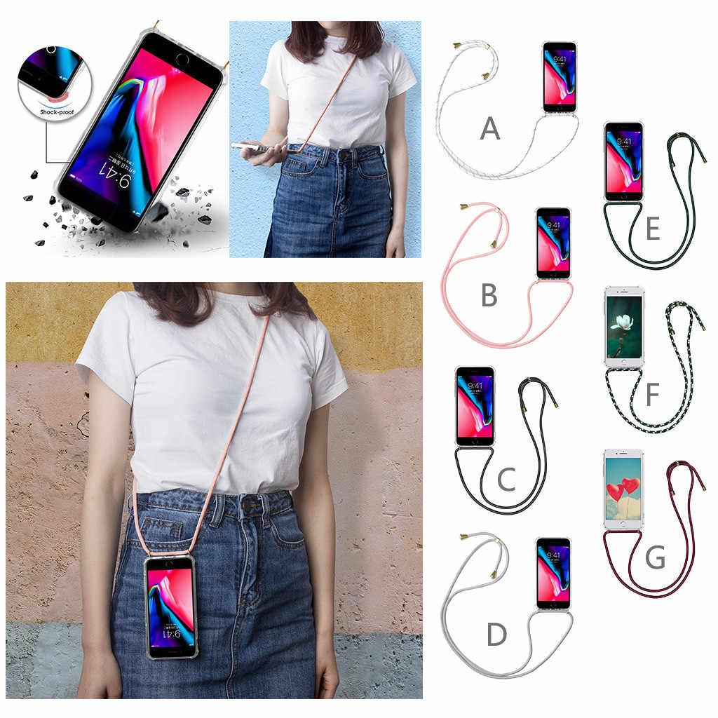 CARPRIE Com Sacos Alça de Pescoço Retrátil Corda Caso Do Telefone Móvel Do Silicone Caso Capa para o iphone X MAX TPU Caso Com silicone
