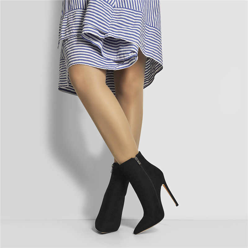 Onlymaker Women High Heel Stiletto Pointed Toe Rivet Studded Slip on Pumps Shoes