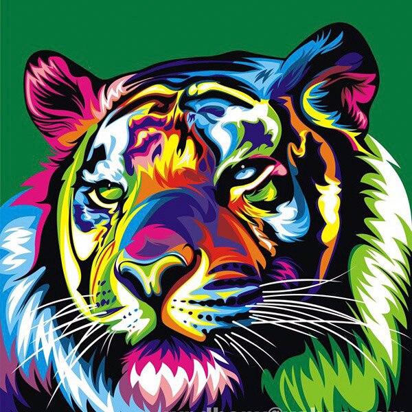3D kosočtverec malování zvířat DIY kosočtverec malba tygr studie pro vánoční dekorace Sibiř Tiger Picture diamant mozaika