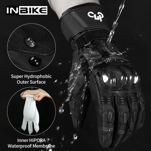 Image 2 - Inbike冬の手袋オートバイ防水暖かいバイク手袋ギア保護熱フリース男性オートバイ防風手袋