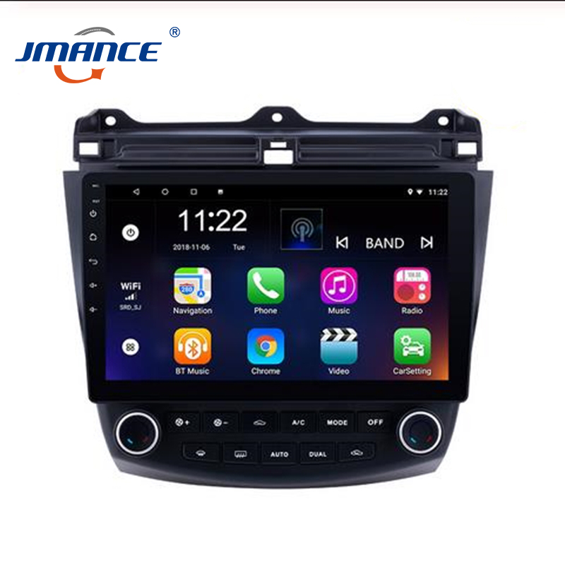 JMANCE Car Multimedia Player For Honda Accord <font><b>7</b></font> 2003-07 Car Stereo Wifi Car Radio <font><b>GPS</b></font> Navigation Andriod 9.0 Video Audio Player image