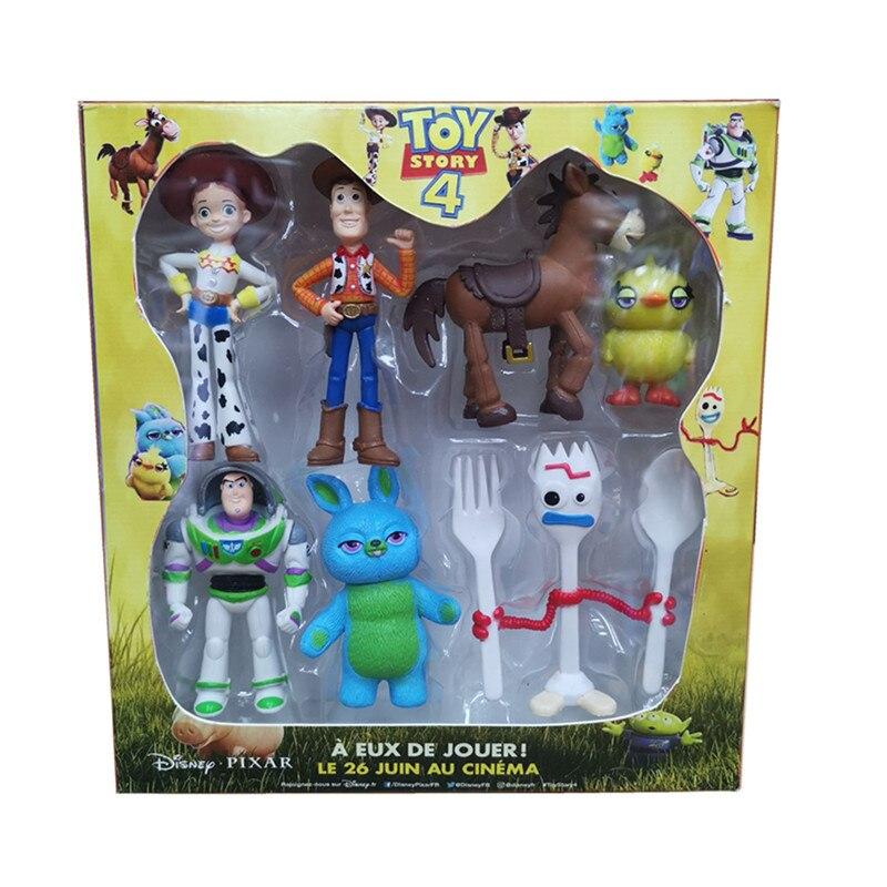Disney juguete de figura de dibujos animados de juguete historia 4 Woody Buzz Lightyear Jessie Forky Lotso Toro Seye dibujos de caballos figura de acción muñecas