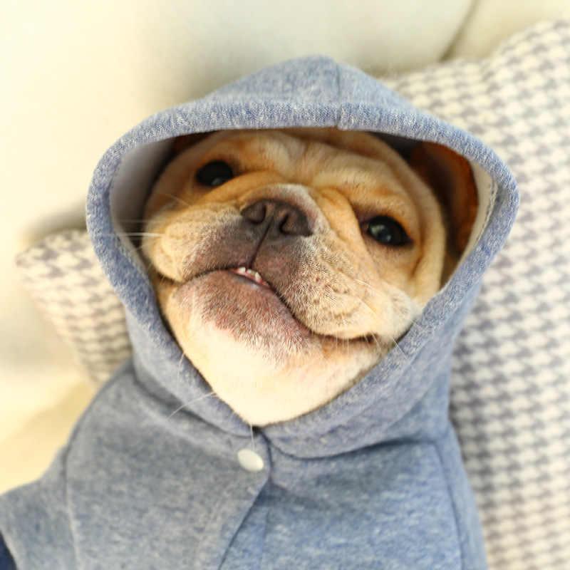 Vêtements pour chien pour petit grand chien manteau animaux mignon péter Bulldog impression veste Chihuahua vêtements sweats à capuche animal de compagnie hiver tenue manteaux