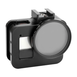 AMS-Metal Protective Frame Case for GoPro Hero 8 Black with Charging Directly and Base Adapter