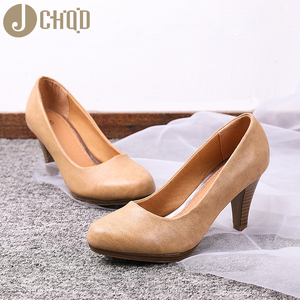 Image 5 - JCHQD 2020 חדש נשים Med עקבים גבוהה באיכות נעלי קלאסי משאבות נעלי משרד גבירותיי נעלי אירופאי size36 41 נשים נעליים