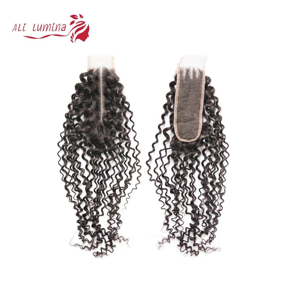 2x6 rizado Kim k cierre Cierre del cabello humano Color Natural rizado brasileño cierre de la parte media del pelo Remy 6/12 piezas de bolsas de filtro para Karcher MV4 MV5 MV6 WD4 WD5 WD6 WD4000 a WD5999 de parte #2.863-006,0