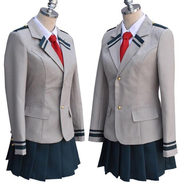 Anime Boku pas de héros académique uniforme scolaire costume mon héros académique Midoriya Izuku Bakugou Katsuki Uraraka Ochako Cosplay Costumes