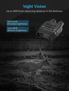 Night Vision Device Binoculars 300 Yards Digital IR Telescope Zoom Optics with 2.3' Screen Photos Video Recording Hunting Camera 4
