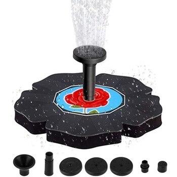 Promotion! Solar Bird Bath Fountain, 1.4W Solar Fountain Pump, Bird Bath Solar Fountain, Garden (Blue) Submersible Pump