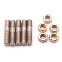 5 Sets M10x1.25 Stud Kit Stainless Steel For Mitsubishi DSM 1G EVO1~10 Turbos Turbo|Nuts & Bolts| |  -