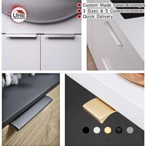 Image 3 - Poignées de meubles pour armoires et tiroirs, 6 tailles, 7 couleurs disponibles au choix, livraison gratuite
