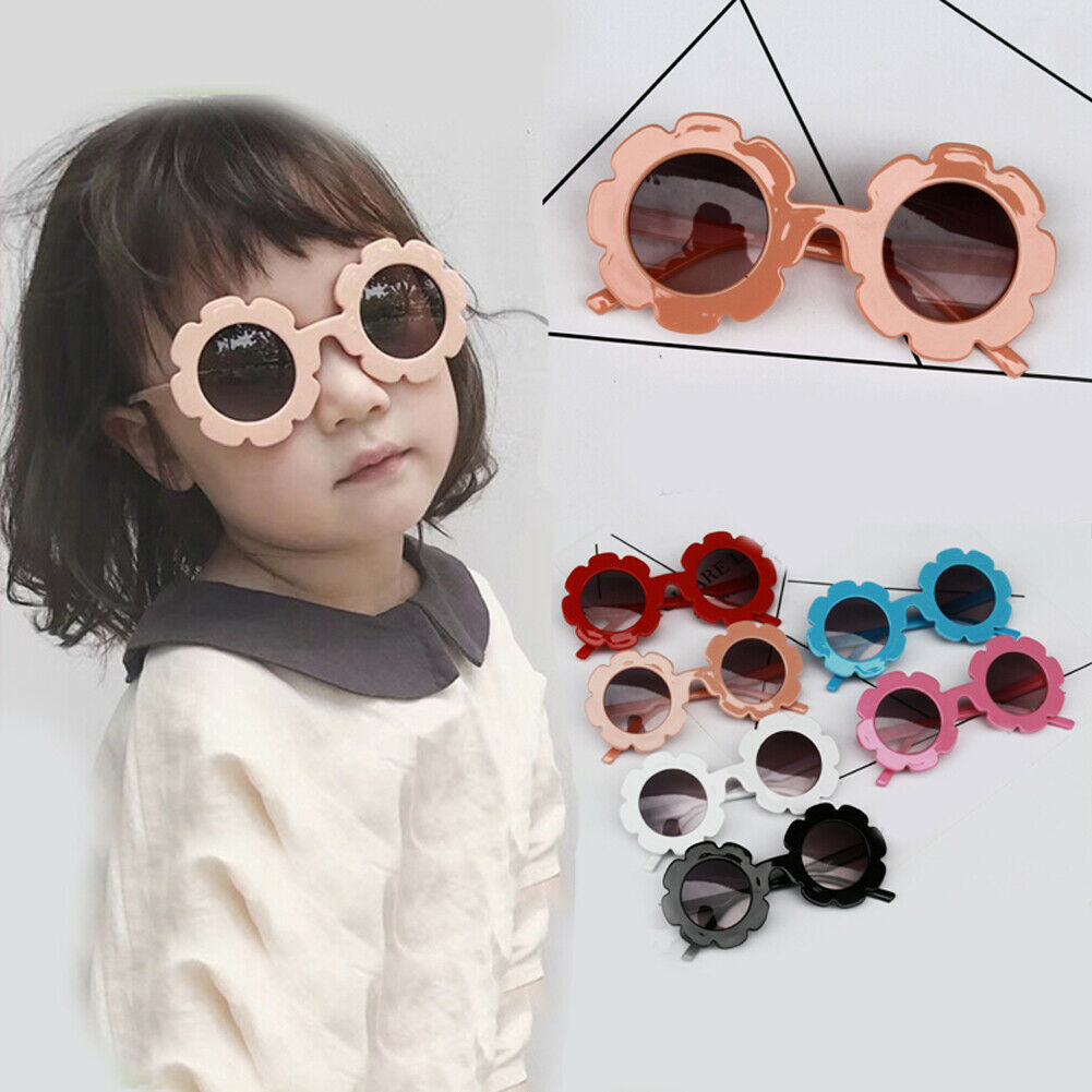 New Infant Baby Sunglasses Fashion Outdoor Accessories Toddler Flower Sun Protection Glasses Kid Toys