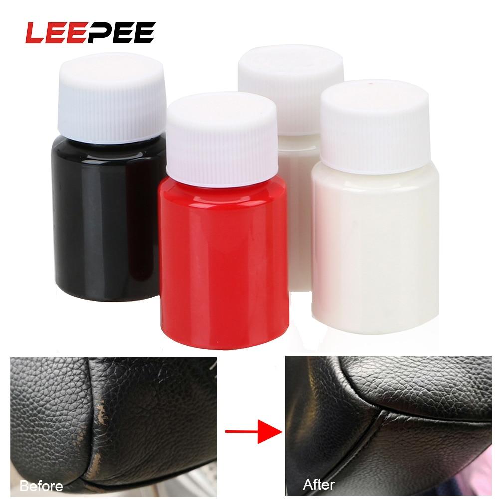 LEEPEE 30ml Car Seat Sofa Coats Leather And Vinyl Restorer Universal Leather Repair Tool No Heat Liquid Holes Scratch Cracks