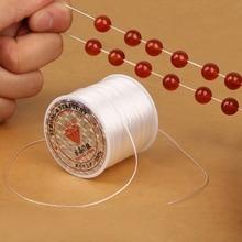 Эластичная прозрачная нить для бисероплетения, эластичная Полиэстеровая веревка для изготовления ювелирных изделий