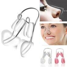 Nariz alisamento corrector massageador rosto ferramenta de modelagem 1 pçs macio silicone nariz ponte reshoaper clipes nariz up redutor clipe