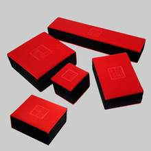 Top Grade Red Flannel Good Luck Jewelry Jade Bracelet Box Gift Box Jewlery Box Buddhist Prayer Bead Box Jin(China)