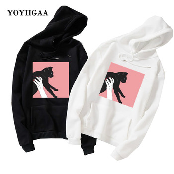Harajuku Women Hooded Long Sleeve Female Pullover Tops Oversized Hoodies Sweatshirts For Woman Clothes