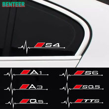 2 pçs/lote janelas do carro etiqueta Para Audi A3 p8 b5 b6 b7 b8 b9 c5 c6 c7 A4 A5 A6 A7 A8 S3 S4 S5 S6 S7 S8 TTS SQ3 Q5 Q7 SQ5 8P 4F