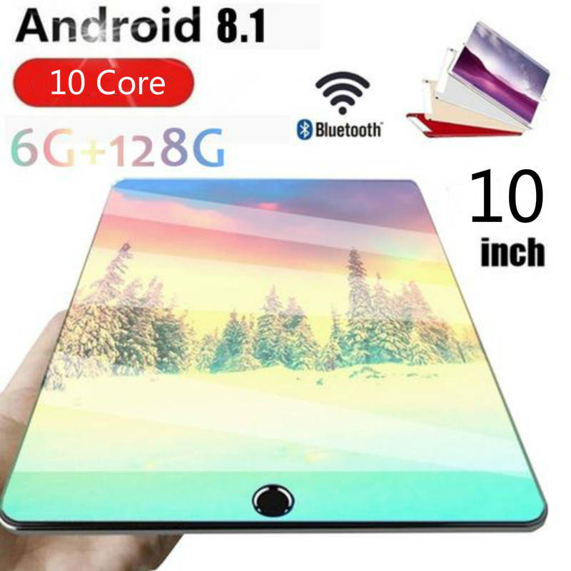 2020 Best-selling 10 Inch 4G LTE Phone Call Tablet Pc Android 8.0 10 Core 6GB+128GB CE Brand Dual SIM Card 10.1 WiFi Tablets