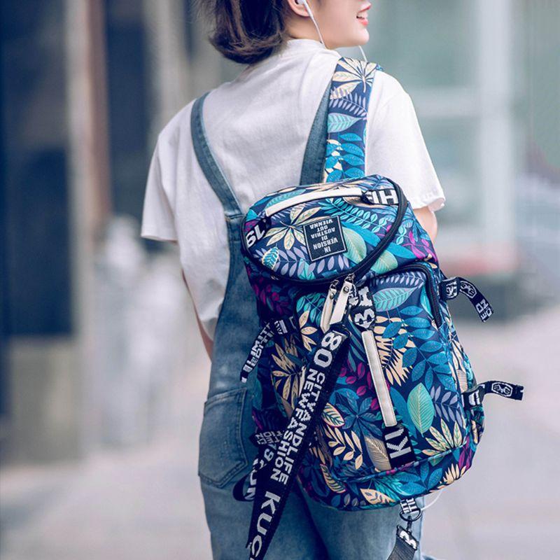 Women Canvas Travel Bags Female Large Capacity Backpack Ladies Multifunctional Crossbody Shoulder Bag 517D