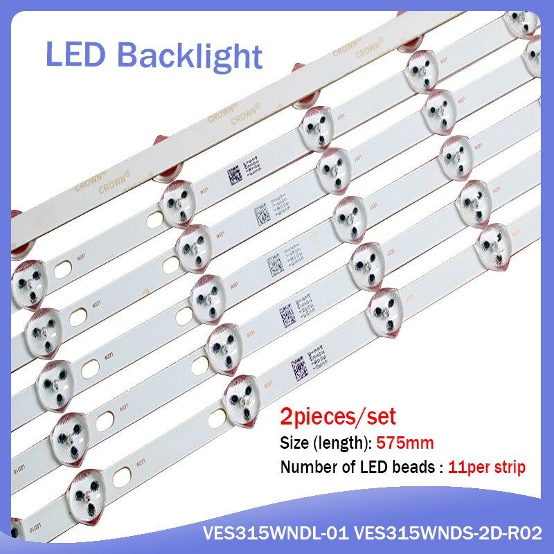 5set=10 PCS 11LED 575mm LED Strip For LG Sharp 32'' TV 32D1334DB LC32LD145K VES315WNDL-01 VES315WNDS-2D-R02 32 HA5000 VESTEL