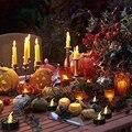 Светодиодный светильник для чая  свечи  работающий от батареи  беспламенный светодиодный Светодиодный  для Хэллоуина  паутина  свечи  мерца...