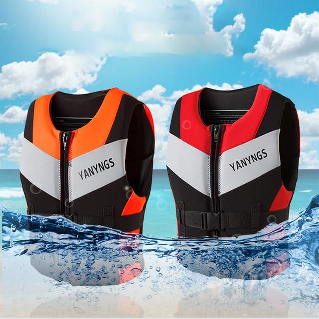 Adults Life Jacket Neoprene Safety Life Vest Water Sports Fishing Water Ski Vest Kayaking Boating Swimming Drifting Safety Vest
