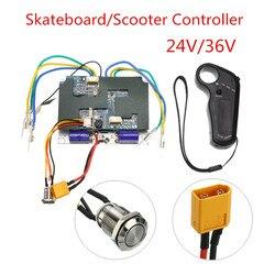 24 V/36 V controlador de monopatín eléctrico Control remoto Dual Motors Longboard ESC piezas Scooters patín Accesorios