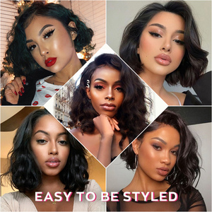 Image 5 - Ali Grace Straight Bob Wig Peruvian 13x4 Bob Lace Front Wigs Natural Hairline Short Bob Wig Lace Front Human Hair Wigs Remy Hair